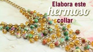 getlinkyoutube.com-Como hacer un collar murano cascada Kit 23169