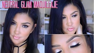 getlinkyoutube.com-Maquillaje NEUTRAL GLAM natural / Neutral natural  easy makeup tutorial | auroramakeup