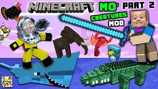 getlinkyoutube.com-AQUARIUM ATTACK!! MO' CREATURES MOD Showcase #2: LAND CREATURES CRAZYNESS (FGTEEV Minecraft)