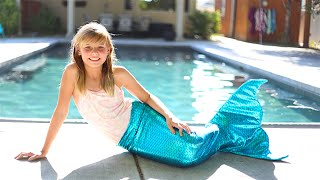 getlinkyoutube.com-How to Make a Mermaid Tail! Swimmable and Very Easy Under $25