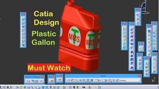 getlinkyoutube.com-Catia V5 Tutorial Beginner Generative Shape Design Plastic Gallon