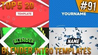 getlinkyoutube.com-TOP 5 Blender 2D intro templates #91 (Free download)