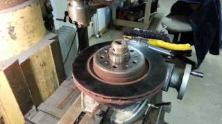 getlinkyoutube.com-Resurfacing a warped brake rotor with a Bridgeport and rotary table