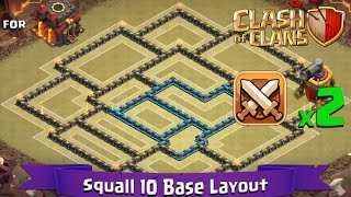 getlinkyoutube.com-Clash Of Clans: TH10   BEST Clan War Base Layout (2 x Air Sweepers) - Squall 10