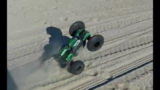 getlinkyoutube.com-ARRMA KRATON Beach Speed Run on Trencher X