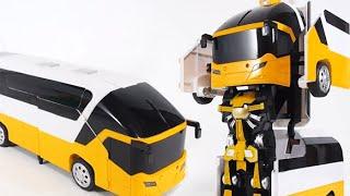 getlinkyoutube.com-신제품 버스 변신 자동차 RC 로봇 로드세이버 K캅스 비교 [대문밖장난감]