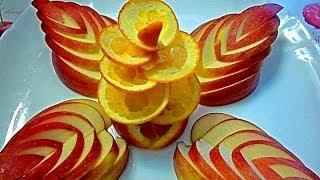 getlinkyoutube.com-Украшения из яблока и апельсина. Как красиво оформить стол. Decorations of fruits