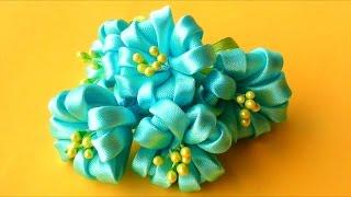 getlinkyoutube.com-Цветочки  КАНЗАШИ без Клея и Иголки! Мастер-класс / Kanzashi Flowers Tutorial / ✿ NataliDoma