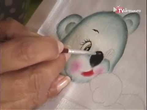 Pintura em Fraldas - Ursinhos