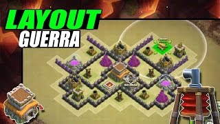 getlinkyoutube.com-LAYOUT DE GUERRA CV8/TH8 ANTI AÉREA, CORREDORES, GOWIPE - Clash of clans