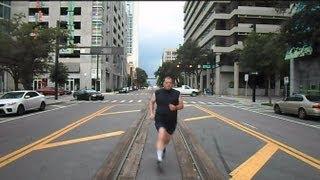 getlinkyoutube.com-CSX Street Runner Train And Millenniumforce Running Man