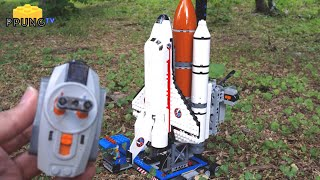 getlinkyoutube.com-LEGO 60080 Space port RC - Launch of Lego space shuttle(using technic beam brick) by 뿡대디