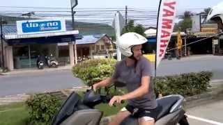 getlinkyoutube.com-Тест-драйв новой модели N-Max от Yamaha. Выставка новых моделей на острове Самуи, Таиланд.