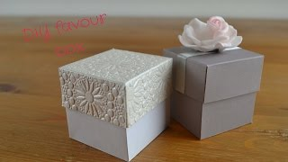 getlinkyoutube.com-Easy DIY Favour Box:  How to create your own wedding favour boxes