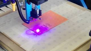 getlinkyoutube.com-Adding a laser cutter to a CNC Router Mill
