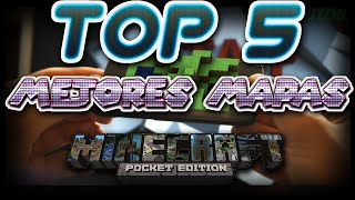 TOP 5 MEJORES MAPAS PARA MINECRAFT POCKET EDITION 0.11.1,0.12