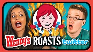 getlinkyoutube.com-YouTubers React to Wendy's ROASTS Twitter!!!
