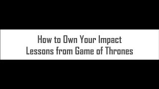 How to Own Your Impact | HawkDG