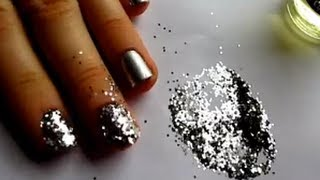 getlinkyoutube.com-Glitter Nail Art Tutorial