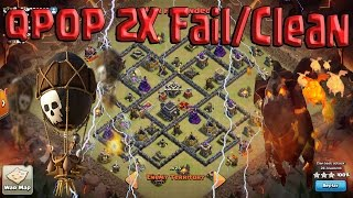 getlinkyoutube.com-Queen POP LaLoon Double Fail/Clean. Best TH9 War Attack. UPDATE. Clash of Clans
