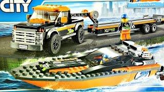 getlinkyoutube.com-4WD with Powerboat / Terenówka z Motorówką - 60085 - Lego City - Recenzja
