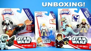 getlinkyoutube.com-Playskool Heroes Star Wars Galactic Heroes Scout Trooper Luke Skywalker & Hans Solo Unboxing