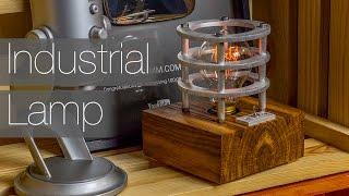 getlinkyoutube.com-Industrial Style Lamp (Aluminum and Oak Fire Wood)