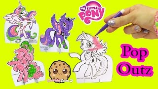 My Little Pony Pop Outz Marker Color Kit with Princess Luna, Celestia, Twilight Sparkle