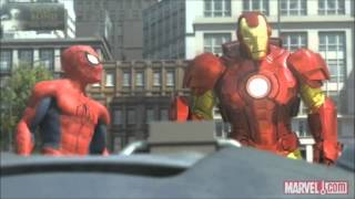 getlinkyoutube.com-Spider-Man, Iron Man and the Hulk (Full and HQ)