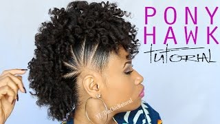 getlinkyoutube.com-THE PONY HAWK | Natural Hairstyle