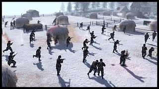 getlinkyoutube.com-Easy Company, 2/506 Head-on Charge - Bloody Battle of Foy | Men of War Assault Squad 2 Mod Gameplay
