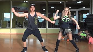 getlinkyoutube.com-La Temperatura - Maluma feat. Eli Palacios - Zumba Fitness- Romy Sibel CHILE