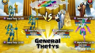 getlinkyoutube.com-General Thetys - Stats & Combat - Monster Legends