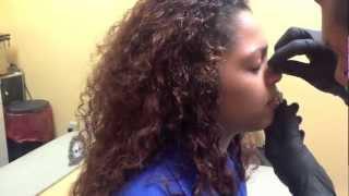 getlinkyoutube.com-How a nose piercing is done!