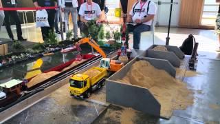 Scaleart arocs getting loaded at Intermat Paris 20