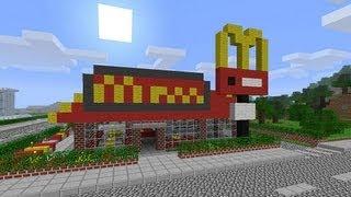 getlinkyoutube.com-Minecraft Un día en la vida de un trabajador del McDonalds!