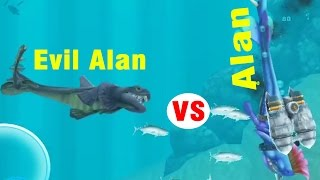 getlinkyoutube.com-Hungry Shark Evolution Alan vs Evil Alan