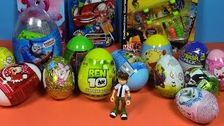 getlinkyoutube.com-Surprise Eggs! Ben 10, Skateboard bag, Thomas Giant Egg, Mickey Mouse,Sorpresa Huevos