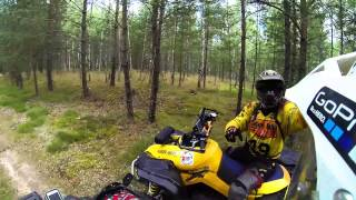 getlinkyoutube.com-Tour of rally routes BRESLAU. CAN-AM Renegade xxc
