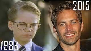 getlinkyoutube.com-Paul Walker (1986-2015) all movies list from 1986! How much has changed? Before and Now!