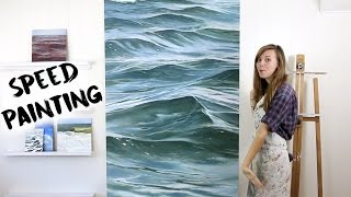 getlinkyoutube.com-Speed Painting Time Lapse Waves