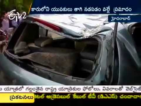 Car Accident In Jubilee Hills, Hyderabad   1