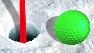 getlinkyoutube.com-IMPOSSIBLE ICY GOLF MAPS! (Golf It)