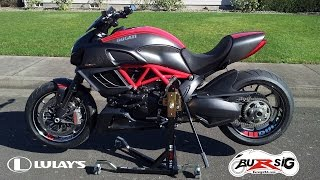 getlinkyoutube.com-Bursig Center-Lift Stand for Lulay's Ducati Diavel - First Look and Assembly