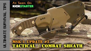 getlinkyoutube.com-HARD-CORE MSK-1 Tactical / Combat Sheath + Mini Paracord Survival Neck Knife