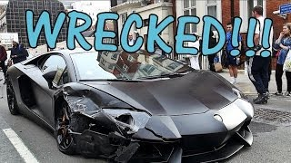 getlinkyoutube.com-LAMBORGHINI AVENTADOR CRASHED: Supercar Wreck in London