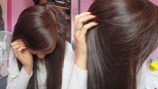 getlinkyoutube.com-How To Dye Black Hair to Brown (without bleaching) - very light ash blonde | Emily