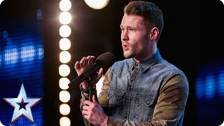 getlinkyoutube.com-Golden boy Calum Scott hits the right note | Audition Week 1 | Britain's Got Talent 2015