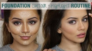getlinkyoutube.com-Tutorial | Foundation Contour & Highlight Routine | Kaushal Beauty