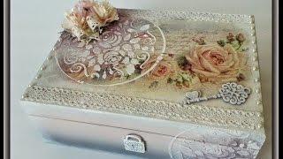 getlinkyoutube.com-Romantic French Vintage - Tutorial Decoupage